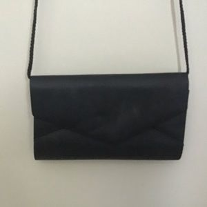 Satin evening event bag